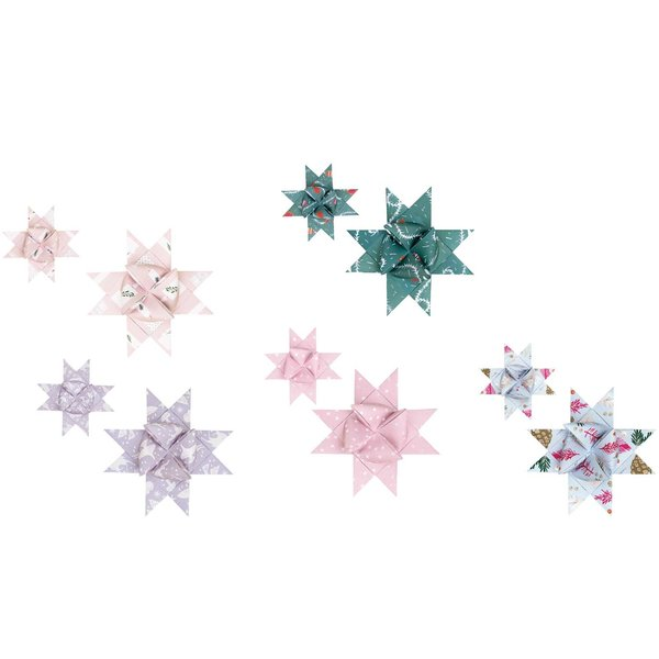 Paper Poetry Fröbelstreifen Nostalgic Christmas pastell 40 Stück
