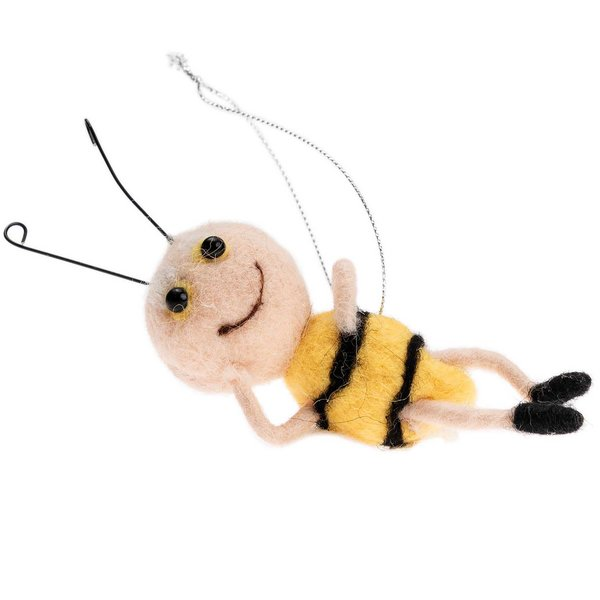 Ohhh! Lovely! Biene liegend zum Hängen handgefilzt 10cm