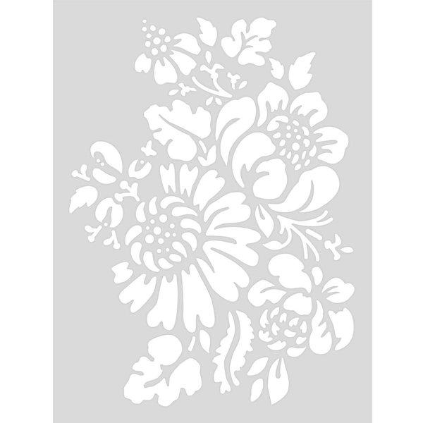 Rico Design Schablone Blumen 18,5x24,5cm selbstklebend