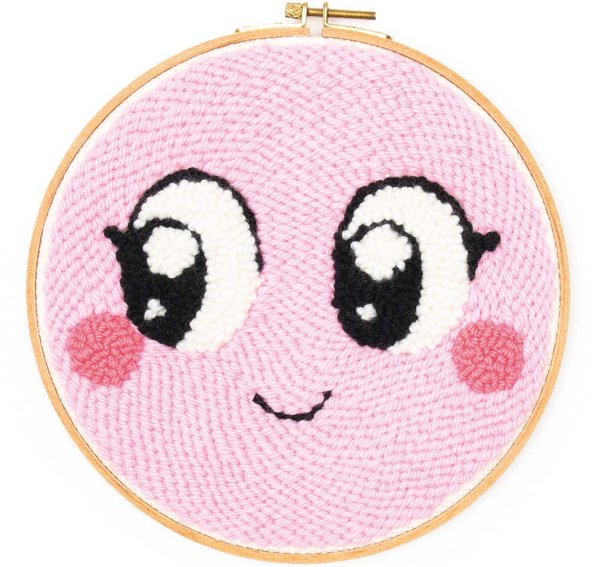 Rico Design Punch Needle Packung Loco Loco Gesicht rosa inkl. Punch Needle