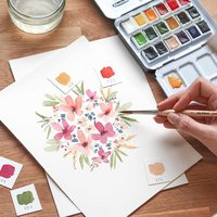 Anleitung Floral Watercoloring mit May & Berry
