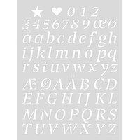 Rico Design Schablone Alphabet 2 18,5x24,5cm selbstklebend