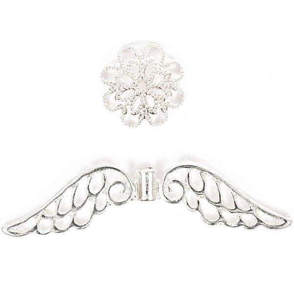 Jewellery Made by Me Flügel mit Perlkappe groß