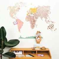 Anleitung Korkpinnwand Weltkarte