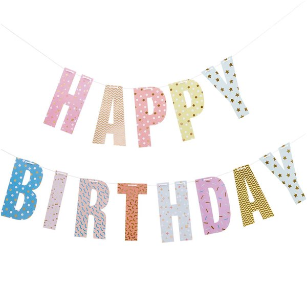 Paper Poetry Girlande Happy Birthday 3m