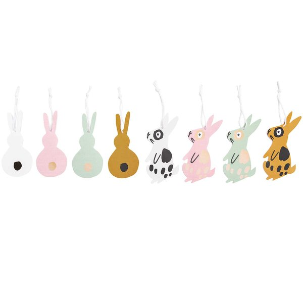 Paper Poetry Papieranhänger Bunny Hop Hasen rosa 8 Stück