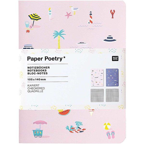 Paper Poetry Notizbücher Maritim A6 40 Seiten 2 Stück