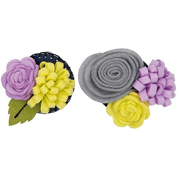Rico Design Bastelpackung Blütenbouquets flieder-hellgrün klein