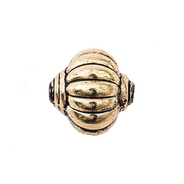 Jewellery Made by Me Kreisel gestreift altgold 14mm 5 Stück