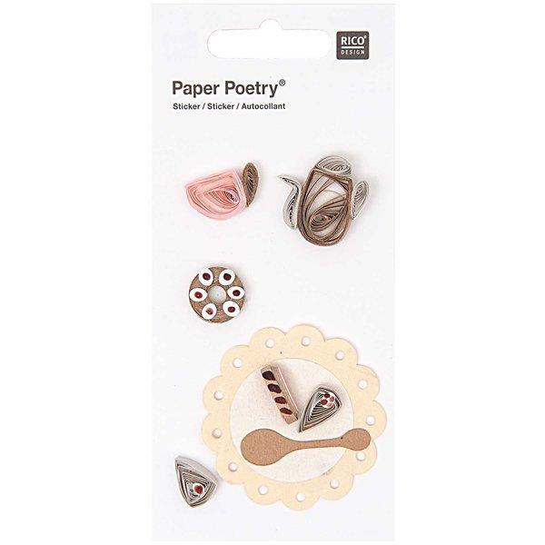 Paper Poetry Quilling Sticker Kaffeeklatsch 1