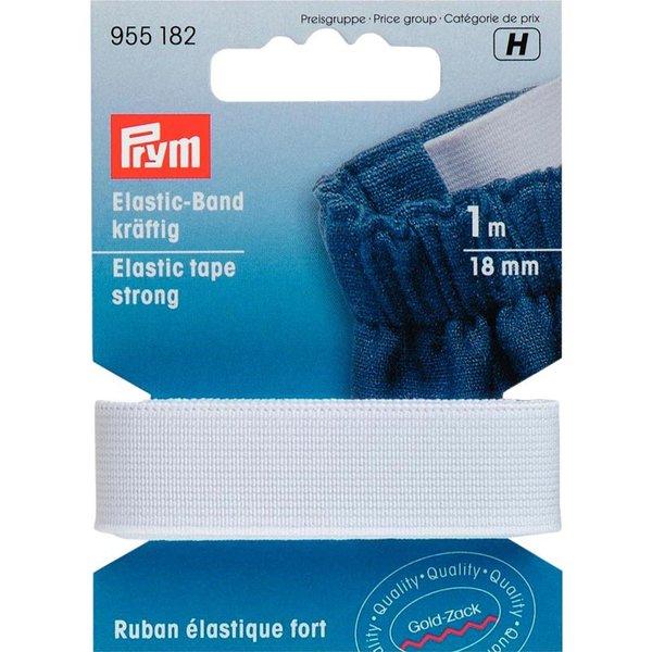 Prym Elastic Band Gummi kräftig weiß 18mm 1m