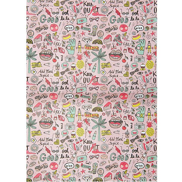 Rico Design Paper Patch Papier cool Girls neon 30x42cm