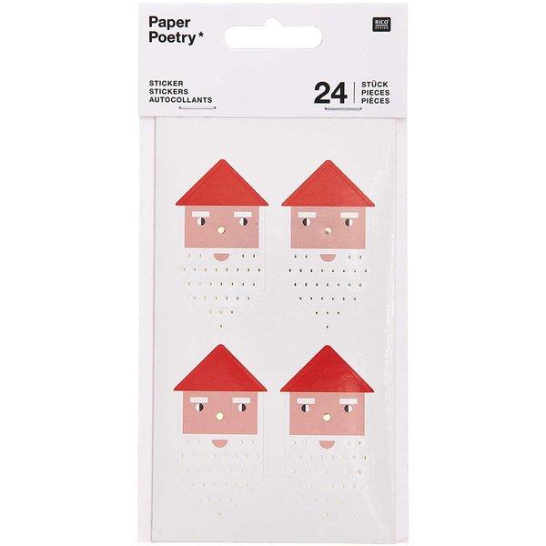 Paper Poetry Sticker Weihnachtsfiguren 4 Blatt