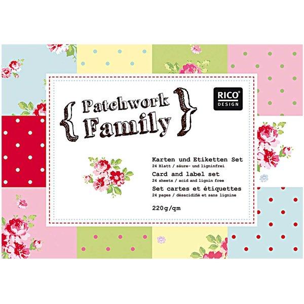Rico Design Karten- & Etiketten Set Nr.1 6 Designs 24teilig
