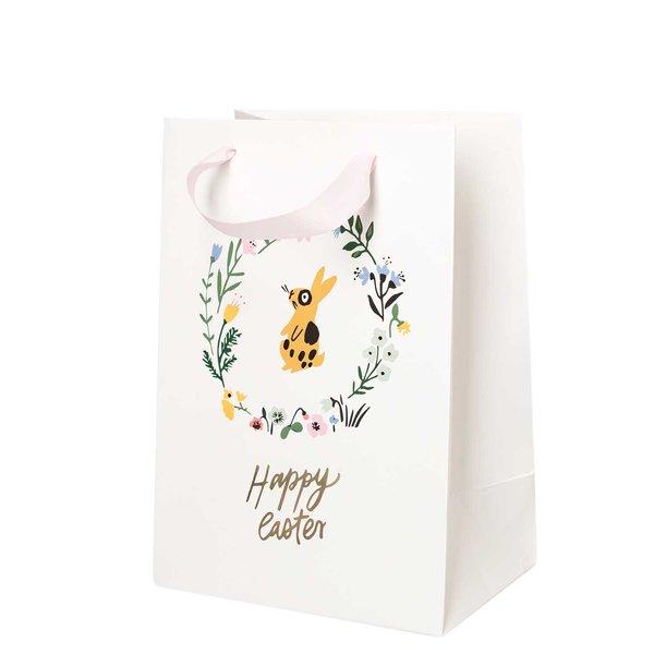 Paper Poetry Geschenktüte Bunny Hop Blumenkranz 18x26x12cm