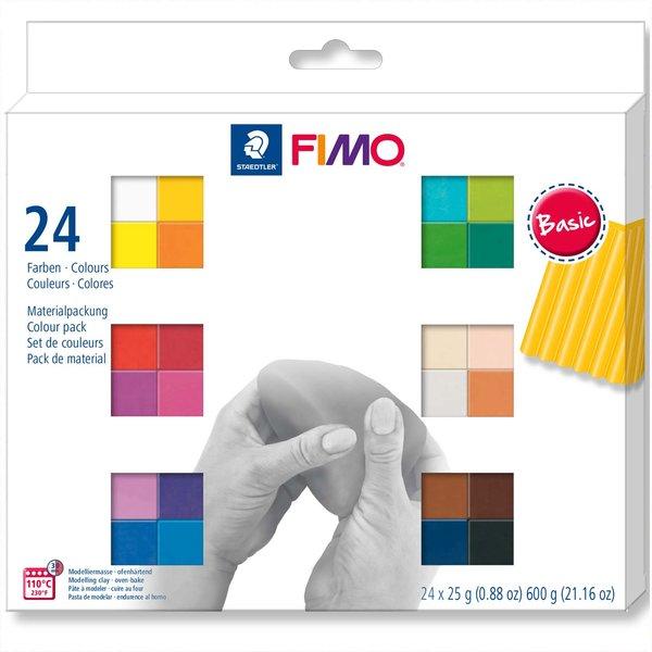 Staedtler FIMO soft Basic 24 Halbblöcke je 25g
