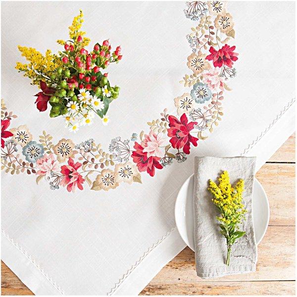 Rico Design Stickpackung Decke Herbstblüten 90x90cm
