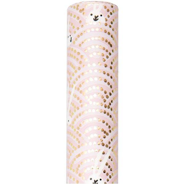 Paper Poetry Geschenkpapier Bunny Hop Hasen im Feld rosa 70cm 2m Hot Foil