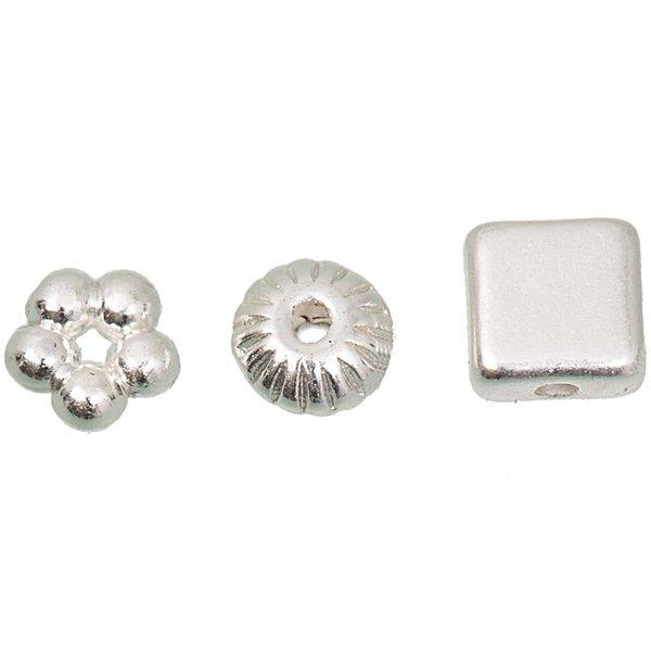 Jewellery Made by Me Perle silber 3 versch. Designs 30 Stück