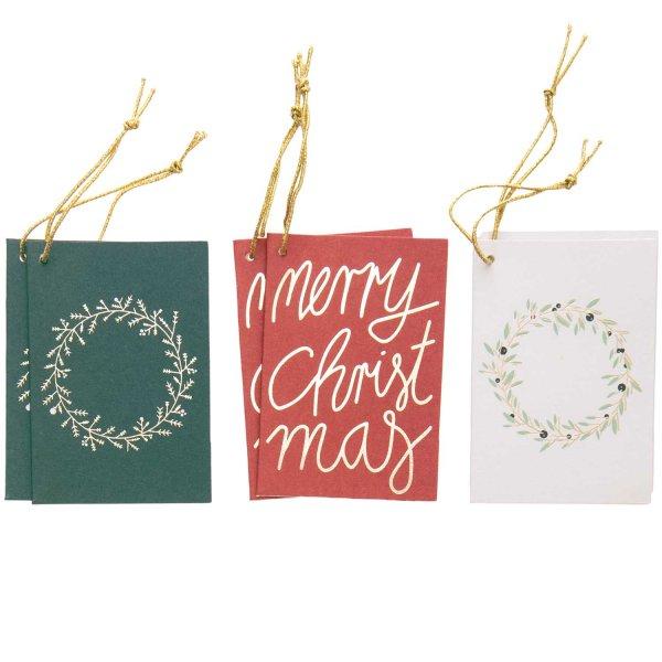 Paper Poetry Kärtchenanhänger Merry Christmas 6 Stück