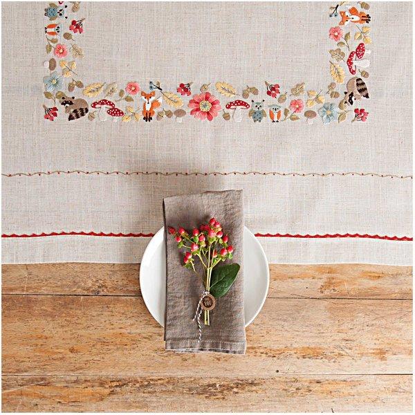 Rico Design Stickpackung Decke Waldtiere 90x90cm