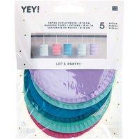 YEY! Let's Party Zuglaterne pastell 10x13cm Papier 5 Stück