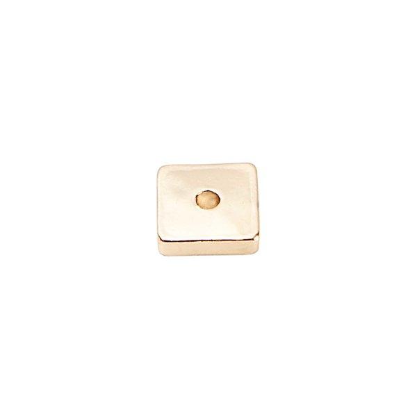 Rico Design Scheibe eckig gold 6x6mm 35 Stück