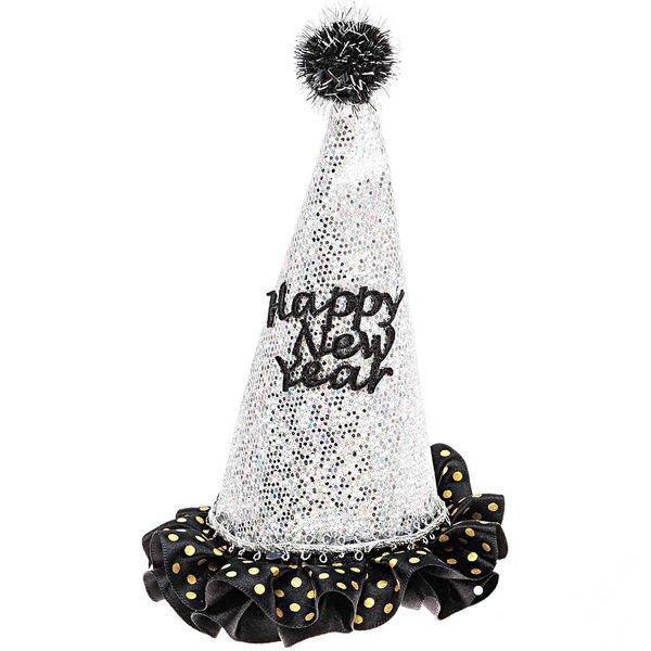 YEY! Let's Party Partyhut Happy New Year irisierend 11x11x19cm
