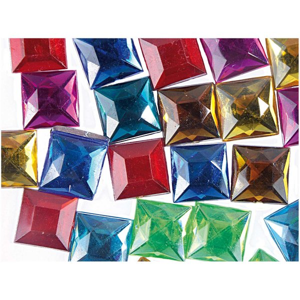 Rico Design Strass Quadrat mehrfarbig ca. 50 Stück