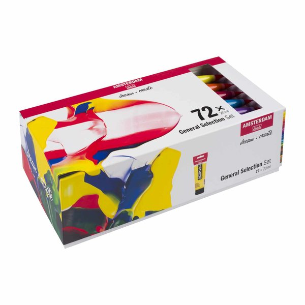 AMSTERDAM Acrylfarbe Set 72x20ml