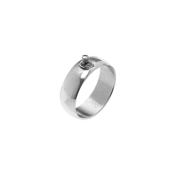 Rico Design Ring breit 16mm Schraubgewinde silber