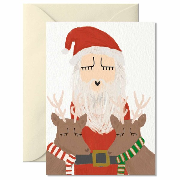 Nelly Castro Grußkarte Santa 10,5x7,4cm