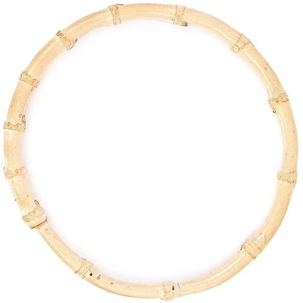Rico Design Taschengriffe rund Bambus natur 22cm 2 Stück