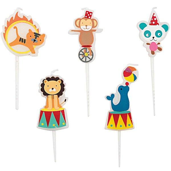 YEY! Let's Party Kerzen Zirkus 5 Stück