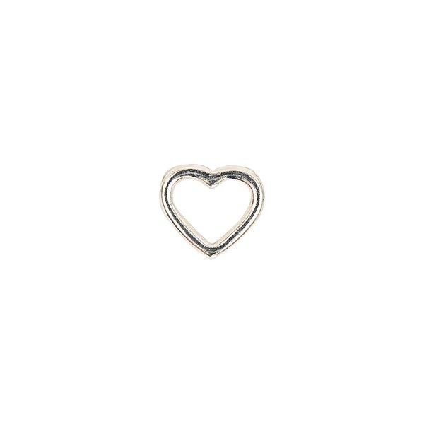 Jewellery Made by Me Herz glatt silber 9x4mm 2 Stück