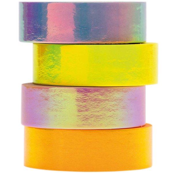 Paper Poetry Tape Set irisierend pastell 15mm 5m 4 Stück