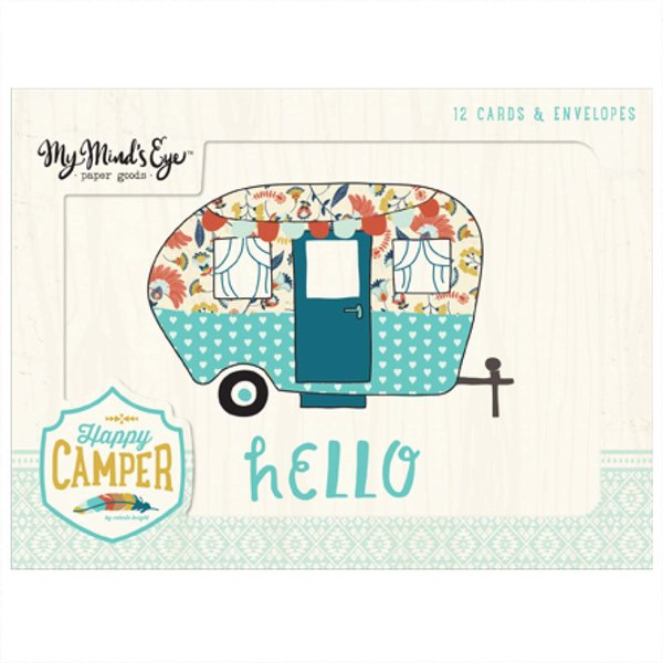 MyMindsEye Scrapbooking Card Set Happy Camper 12 Stück