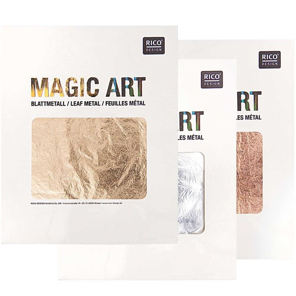 Rico Design Magic Art Blattmetall 6 Blatt