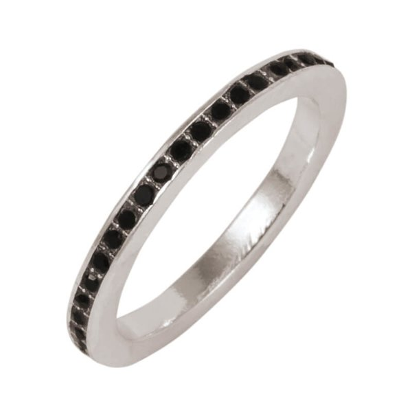 Rico Design Ring Strass schwarz 16mm