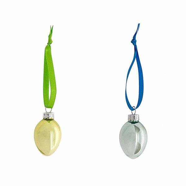 Glas-Ei zum Hängen Pearldesign 4cm