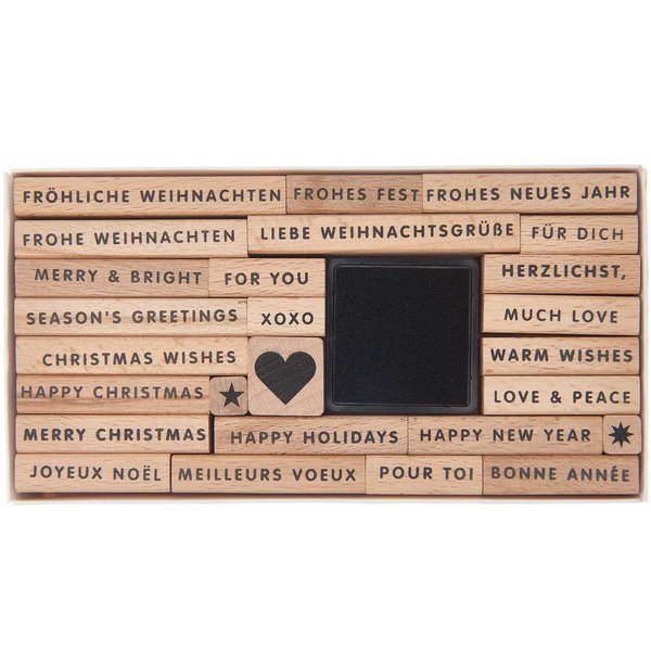 Paper Poetry XL-Stempelset Merry Christmas 27teilig