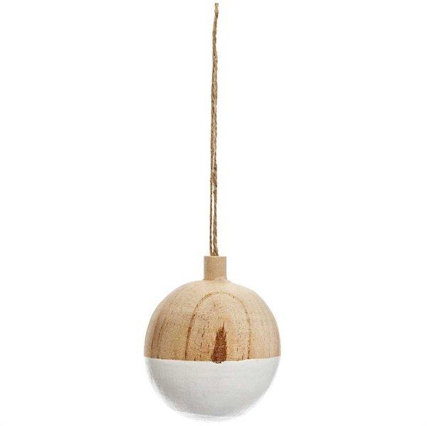 Ohhh! Lovely! Baumschmuck Holzkugel natur-weiß Ø6cm