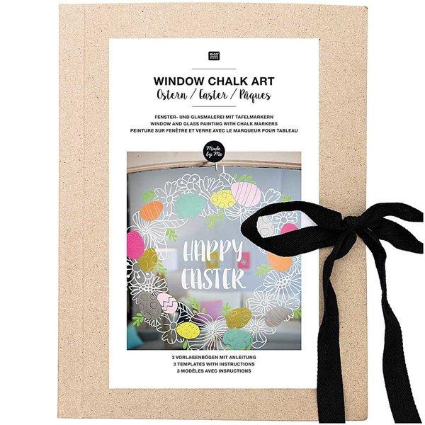 Rico Design Vorlagenmappe Fenster- und Glasmalerei mit Kreidestiften Ostern