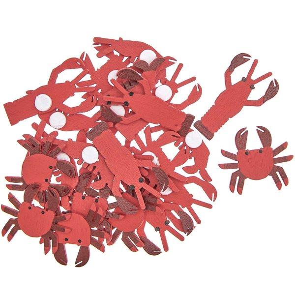 Ohhh! Lovely! Holzsticker Meerestiere Mix rot 24 Stück