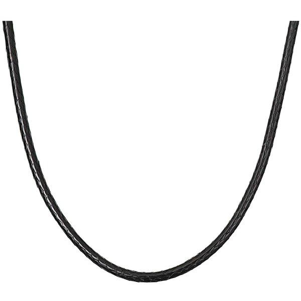 Rico Design Big Charms Kette Lederoptik schwarz 80cm