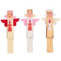 Ohhh! Lovely! Dekoklammern Engel Mix weiß-gold 7cm 3 Stück