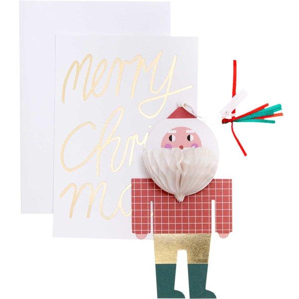 Paper Poetry Kartenset mit Pop-Up Anhänger Weihnachtsmann B6