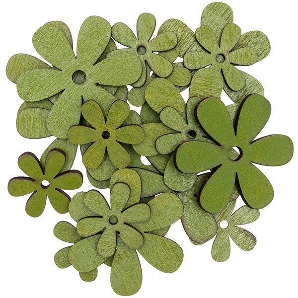 Streu Blüte grün 3-5cm 18 Stück