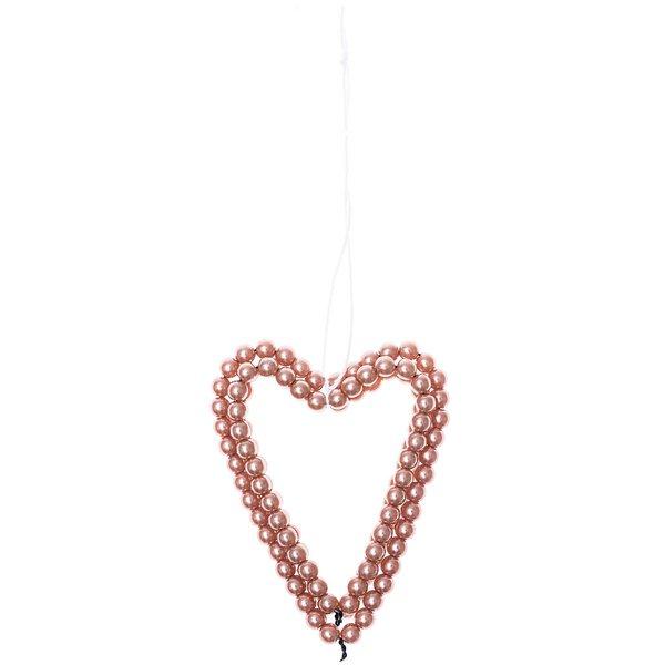 Ohhh! Lovely! Perlenhänger Herz groß rosegold