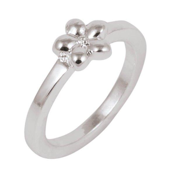 Rico Design Ring mit Blume 16mm